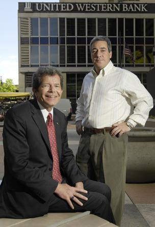 Jim Peoples, former CEO, left, and Guy Gibson, former chairman, are challenging bank's takeover.