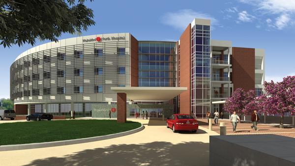 Rendering of what will be WakeMed North Hospital.