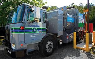 Waste Industries rolled out its CNG trucks.