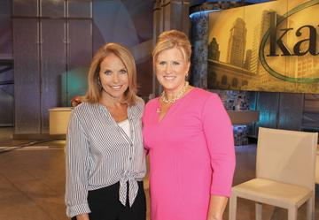 Raleigh author Laurie Watson, right, with Katie Couric.