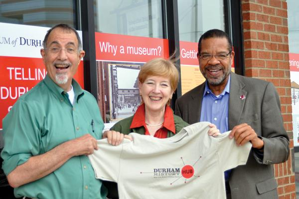 From left, Tom Krakauer, Cindy Gardiner and Lew Myers play key roles in new Durham museum.