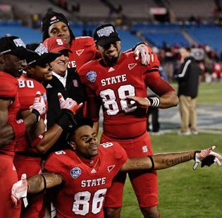 Best bang for the buck: #10 School: NC State Conference: ACC Total wins: 20 Total football expenses:  $32,820,449.00  Dollars spent per win:  $1,641,022.45