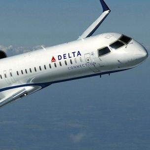 Pinnacle flies regional jets for Delta Air Lines.