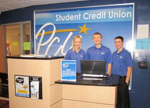 Postal Credit Union's student branch at Tartan High School in Oakdale employs three students (from left): Geneva Eilertson, Austin Rabel and Marco Buchmayer.