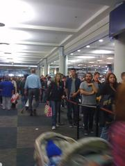 A line outside of Best Buy at the Mall of America shortly after midnight on Black Friday.
