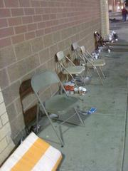 Trash marks the line where Best Buy shoppers waited in Richfield. This is from about 2:30 a.m. on Black Friday.