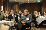 Dean Brenteson of Veit USA listens to the panel discussion.