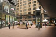 Photos of the inside of the IDS Center in downtownMinneapolis.
