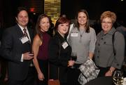 Joel McLay, Liz McLay, Kristen Hyde of Rosa Mexicana, Stacey Bonine of MNSCA (left to right, with woman on the far right unidentified)