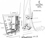 The site plan for the Excelsior Hotel.