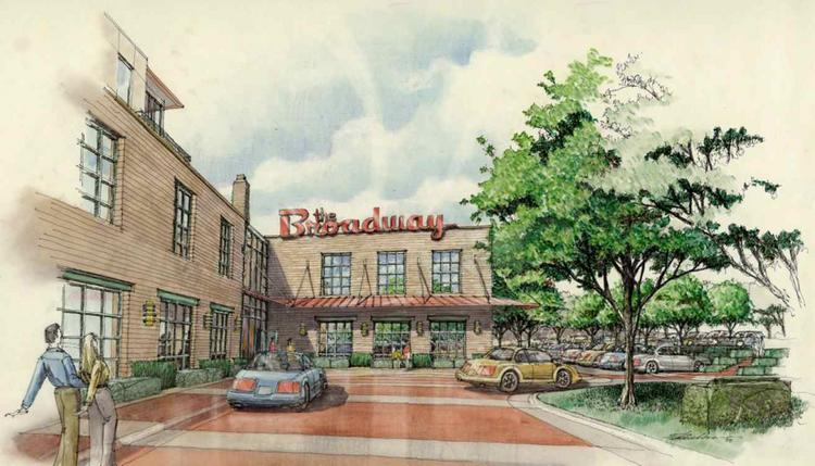 A rendering of an office and retail redevelopment project that breaks ground Wednesday in Minneapolis.