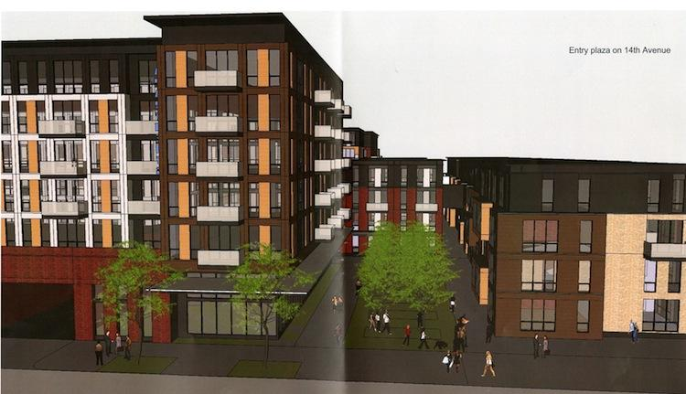 A rendering of the proposed development.