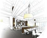 Another view of what the restaurant and bar will look like.