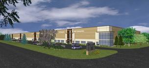 A rendering of the building at Liberty Industrial Park in Rogers where ADO plans to open a 60,000 square foot warehouse.