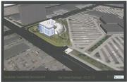 Rendering of the proposed Southdale Residential Development, with the mall on the right.