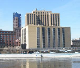 The Eugene McCarthy Post Office in downtown St. Paul's Lowertown neighborhood