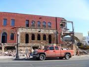 Former Grandma's Saloon site in Minneapolis which was razed in March 2011.