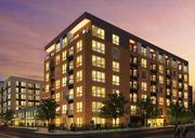 A rendering of Mill & Main apartments, which Doran Cos. is building, has attracted the attention of a carpenter's union upset about the hiring of a non-union drywall contractor.