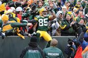 Anytime a Lambeau Leap is made, it could be into the arms of a team owner.