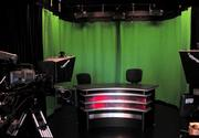 "Studio B is 325 square feet. It has a green-screen backdrop to allow for ""virtual"" studio production."