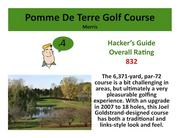 Pomme De Terre Golf Course Morris >Click here to read the Hacker's Guide review of this course.