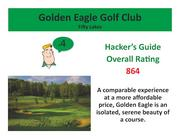 Golden Eagle Golf Club Fifty Lakes >Click here to read the Hacker's Guide review of this course.