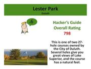 Lester Park Duluth Click here to read the Hacker's Guide review of this course