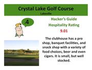 Crystal Lake Golf Course Lakeville >Click here to read the Hacker's Guide review of this course.
