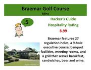 Braemar Golf CourseEdina >Click here to read the Hacker's Guide review of this course.