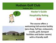 Hudson Golf ClubHudson, Wis. >Click here to read the Hacker's Guide review of this course.