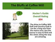The Bluffs at Coffee Mill Wabasha >Click here to read the Hacker's Guide review of this course.