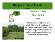 Ridges at Sand Creek Jordan >Click here to read the Hacker's Guide review of this course.