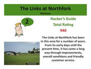 The Links at Northfork Ramsey >Click here to read the Hacker's Guide review of this course.