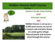 Click on the link to learn more about Hidden Greens Golf Course