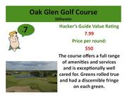 Click on the link to learn more about Oak Glen Golf Course
