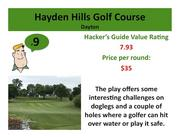 Click on the link to learn more about Hayden Hills Golf Course