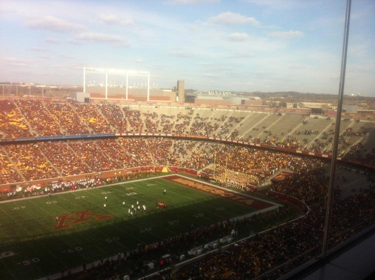 Saturday's win over Purdue was witnessed by the smallest crowd in TCF Bank Stadium history.