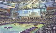 A rendering of what the inside of the proposed Vikings stadium would look like.