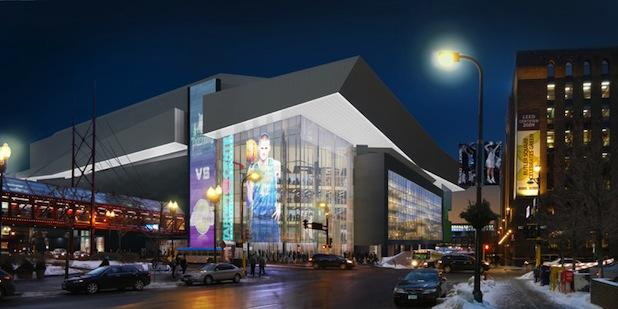 A rendering of a planned renovation for Target Center, which went online Tuesday.
