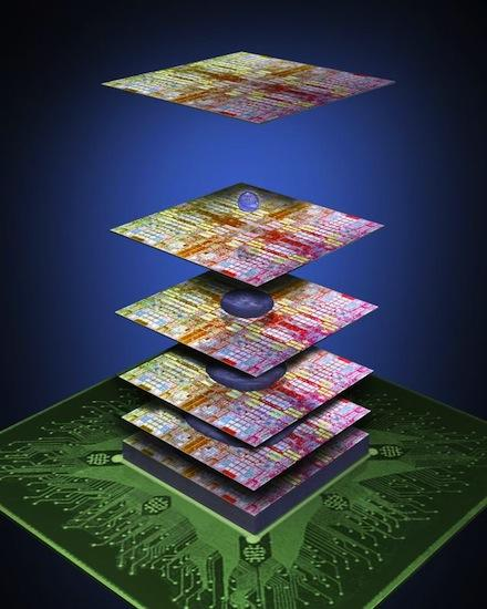 3M and IBM are joining forces to try to create towers that would hold up to 100 separate computer chips.