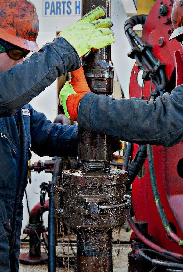 Oil workers in North Dakota
