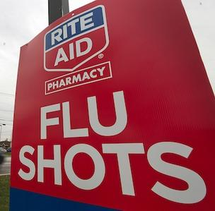 Flu shots are running scarce in several Massachusetts cities and towns. Rite Aid and CVS representatives say the pharmacies have a ready supply.