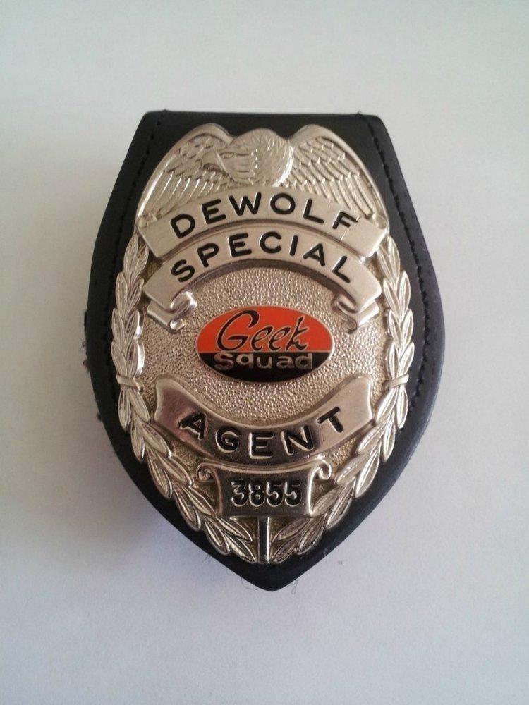 Former Special Agent DeWolf's badge.