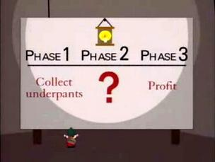 The Underpants Gnome business model. Schulze has a Phase 2, insiders say.