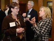 Laurie Bauer (left) of Andersen Corp. and Carol Koenecke-Grant of Children's Hospital.