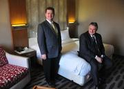 General Manager Phil Johnson and Paul Wischermann, president of Wischermann Partners Inc., the Minnetonka company that manages the hotel.