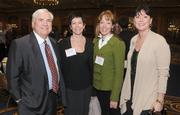 Left to right are Randy Hogan, Trish Santini (Guthrie Theater), Liesl Hyde (Regional Director of Challenger Gray and Christmas) and Blythe Brenden.