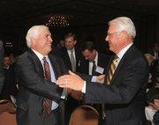 Randy Hogan with CHS CEO John Johnson