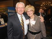 Former CHS CEO John Johnson and his wife, Shirley