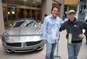 Darren Ennis (left) and Mike Feltault of Sheba Productions, which helped produce the Skyway Open.